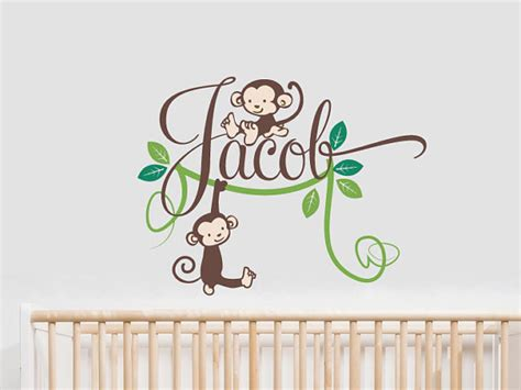 Baby Name Wall Decals For Nursery Baby Name Wall Stickers For Nursery Thenurseries