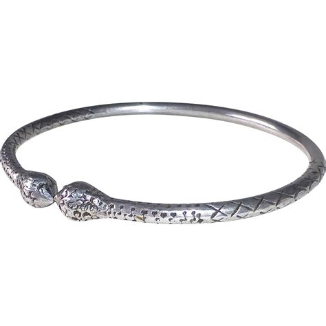 open bangle ethnic sterling silver open bangle bracelet from