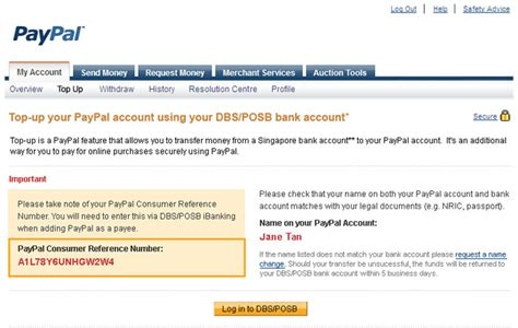 set up paypal account with bank account paypal top up paypal