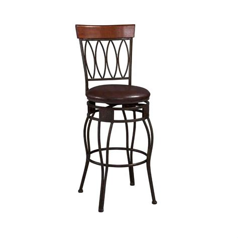 Bar Stools Home Depot by Home Decorators Collection Oval Back 30 In Matte Bronze