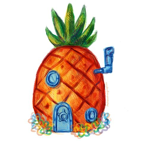 pineapple house spongebob pineapple clipart clipartxtras