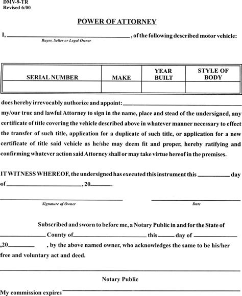 west virginia power of attorney form download free