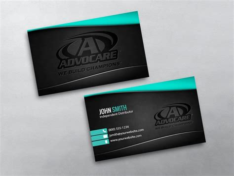 free advocare business card template advocare business card 26