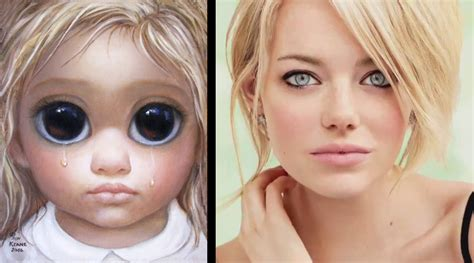 emma stone big eyes emma stone a human big eyes painting scoopnest com