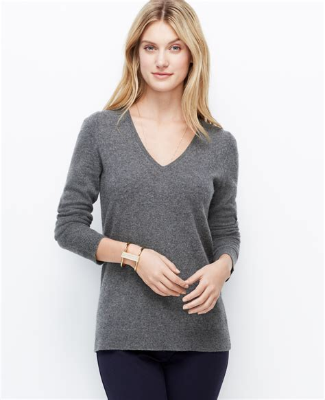 Sweater Chelsea 2015 chelsea v neck sweater in gray classic charcoal lyst