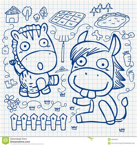 doodle contest paper notebook paper doodles royalty free stock photography