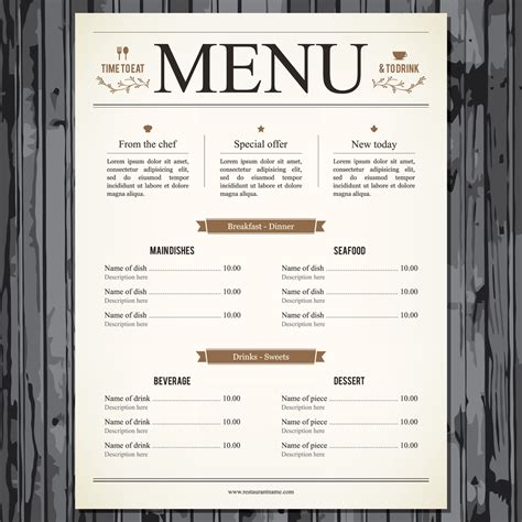 steak house menu restaurant menu graphics and icons for delectable design bigstock blog