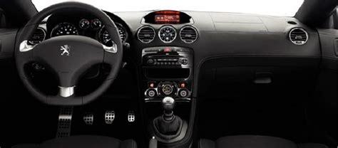 peugeot rcz inside car pictures list for peugeot rcz 2014 6 speed automatic