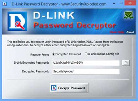 MysqlPasswordAuditor D'link Router Password