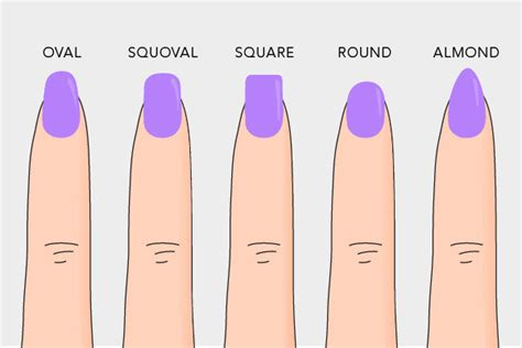 shape and color nails how to choose the best nail shape for you colors and fashion