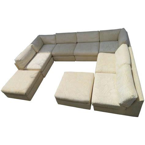 Mid Century Sleeper Sofa Spectacular Milo Baughman Style Eight Sectional Sofa Sleeper Mid Century For Sale At 1stdibs