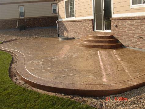 decorative concrete patio concrete patios denver custom decorative concrete patio