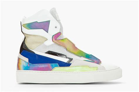raf simons holographic space sneakers raf simons summer 2013 holographic space sneaker