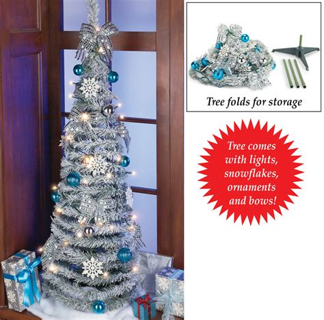 lighted pull up glitter christmas tree by collections etc