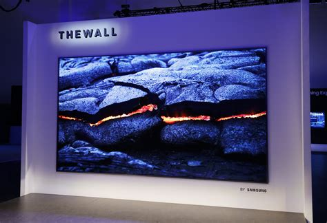 samsung wall tv samsung s the wall tv is a modular 146 inch that uses microled ars technica