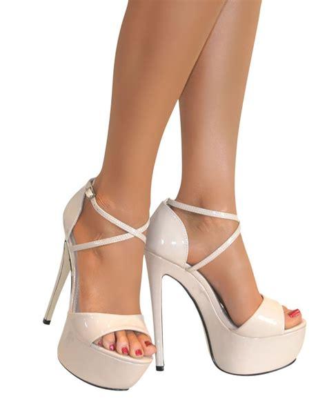 Barratts Platform Peep Toes by Womens Peep Toe Strappy Platform Stiletto High Heel
