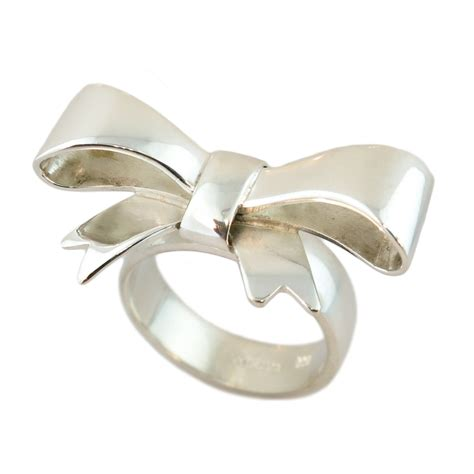 sterling silver bow ring cameron jewellery