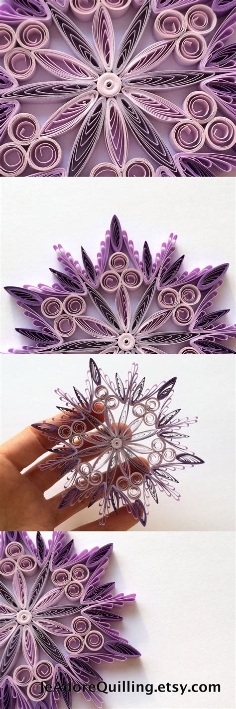 snowflake purple christmas tree decoration winter