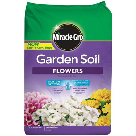 miracle gro 1 5 cu ft garden soil for flowers 70359430