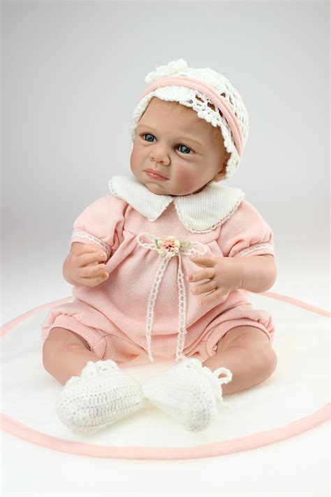 Handmade Baby Dolls - 22 inch reborn baby dolls 50cm silicone reborn baby dolls