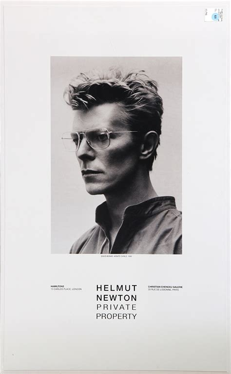 helmut newton private property lot of 5 quot quot helmut newton private property quot quot exhibition posters including quot quot david bowie monte