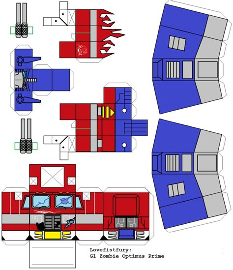 Transformers Papercraft Optimus Prime - awakening optimus prime hako clone by lovefistfury on