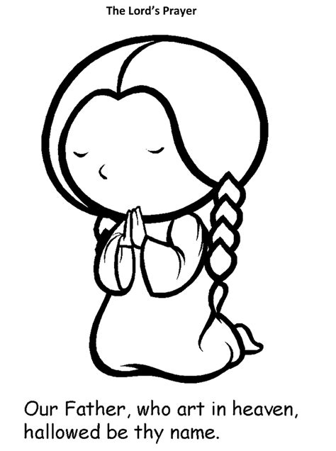 catholic our father coloring coloring pages