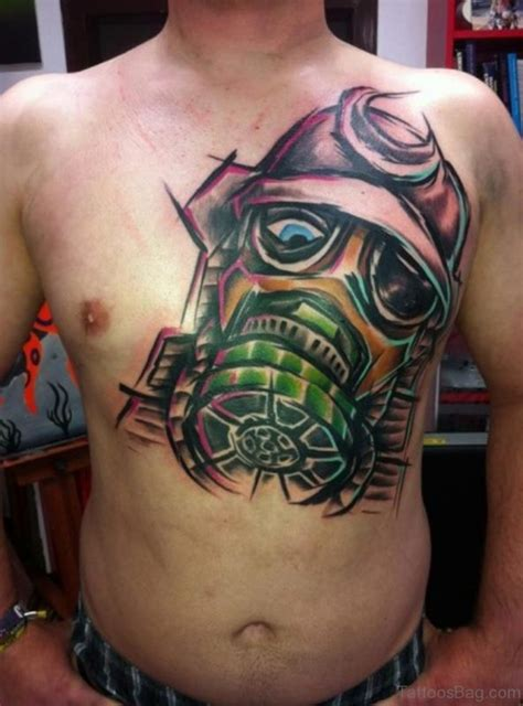 chest tattoo abstract 63 classic mask tattoos on chest