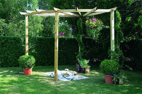 backyard pergola kits forest garden radial pergola kit