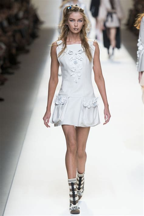 stella maxwell on the runway at fendi fashion show in