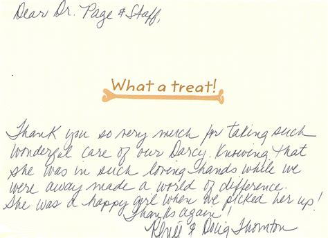 Thank You Letter Veterinarian testimonials client appreciation letters veterinarians