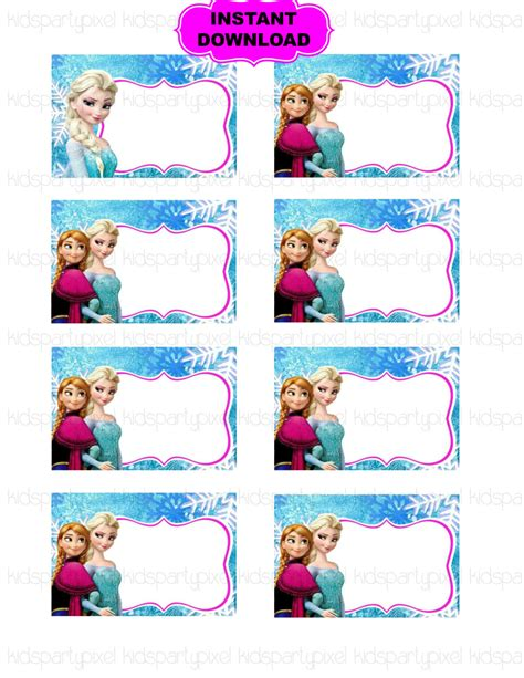 printable frozen favor tags frozen printables pesquisa google festa frozen