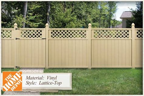 home depot vinyl fencing styles vinyl fence panels home