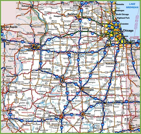 map of il map of northern illinois my
