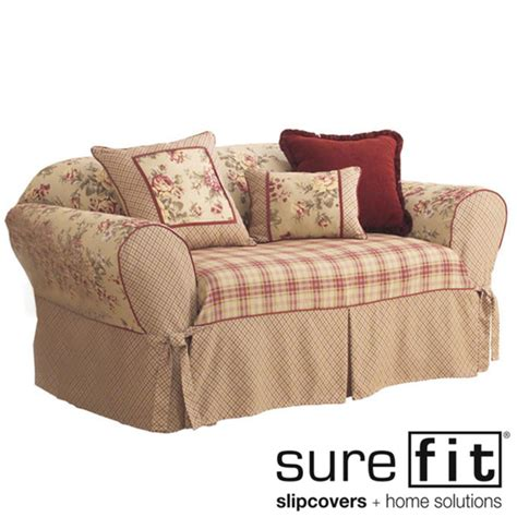 washable slipcover sofa sure fit lexington washable sofa slipcover overstock