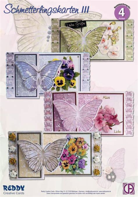 craft greeting card bastelsets craft kits craft kit butterfly greeting