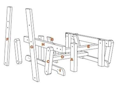 glider bench swing plans  woodworking