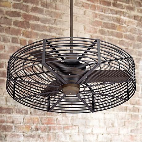 Caged Ceiling Fan by 32 Quot Vintage Bronze Black Cage Ceiling Fan