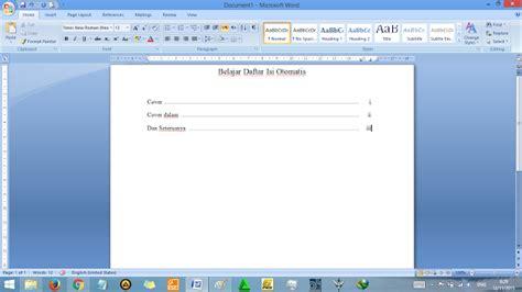 membuat daftar isi otomatis di ms word 2010 cara membuat daftar isi di microsoft word secara otomatis