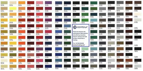 ral color chart ral colour chart contour