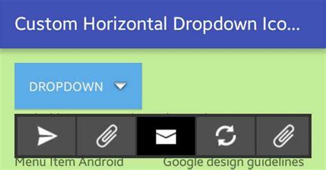 custom layout menu android android custom horizontal icons menu viral android
