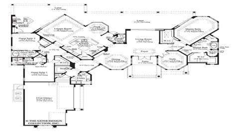 luxury ranch style house plans house plan the cardiff sater design collection luxury