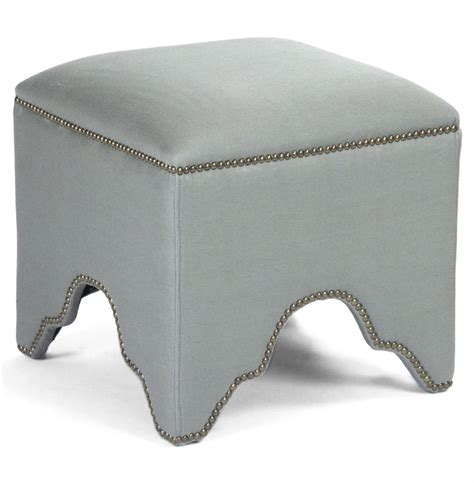 sage green ottoman dunia hollywood regency modern sage green square stool