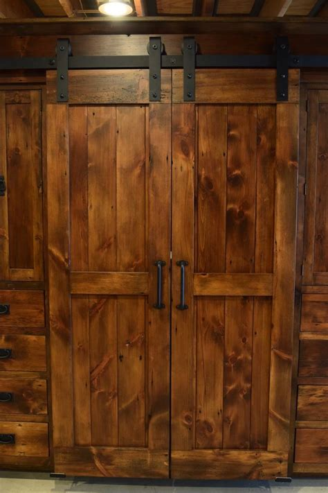 Barn Door Cabinets Wardrobe Barn Door Entertainment Cabinet Furniture From The Barn