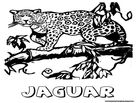 coloring pages of jaguar jaguar coloring pages free printable kids coloring pages