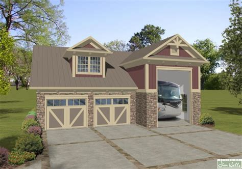 garage plans with living area house plan with rv garage 171 floor plans