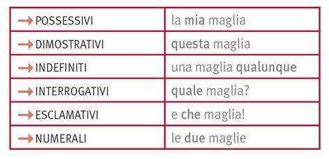 diversi analisi grammaticale aggettivi in quot la grammatica italiana quot