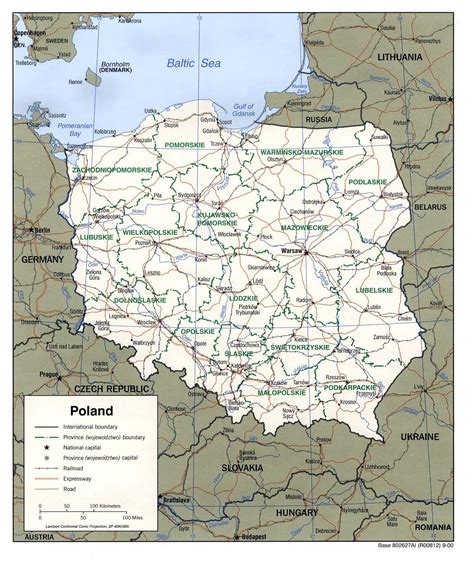 printable map of poland printable maps cartes de pologne cartes typographiques d 233 taill 233 es des