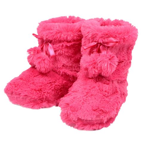 pom pom slippers plush bootie slippers with pom poms new