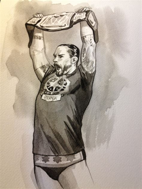 by jill thompson cm punk weekly sketch up 08 10 2012